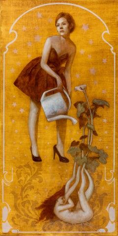 American Contemporary Art by Deirdre Sullivan-Beeman - Watering Can Girl