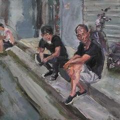 Chinese Contemporary Art by Su Yu - Watching