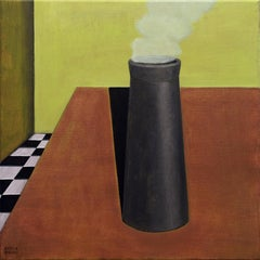 Italian Contemporary Art by Andrea Vandoni - The Chimney Is On The Table