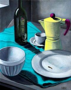 Italian Contemporary Art by A. Vandoni - Italic Still Life After Eating Fruits