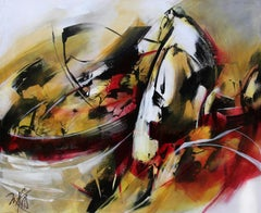 French Abstract Contemporary Art by MABRIS - L'Or des Terres Rouges