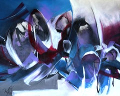 French Abstract Contemporary Art by MABRIS - Lointaine Musique