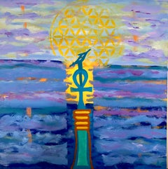 French Contemporary Art by Aly Cairo inspired by Egypt - Le Bâton de Ptah