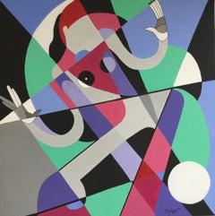 Austrian Contemporary Art by  Brigitte Thonhauser Merk - Figure Cinétique