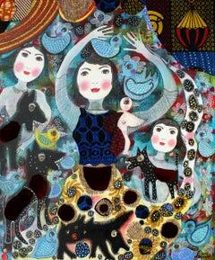 French Contemporary Art by Claudine Loquen - Elsa Triolet Et Les Loups