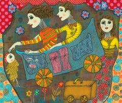 French Contemporary Art by Claudine Loquen - Vive la Vie ! En Voiture Simone...