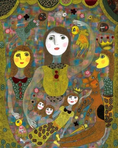 French Contemporary Art by Claudine Loquen - Aliénor d'Aquitaine et ses Filles