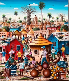African Contemporary Art by Djiguemdé Roger - La Potière de Samba