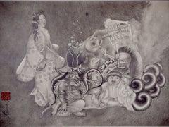 Japanese Contemporary Drawing by Tomo Sakurai - Chimi Moryo