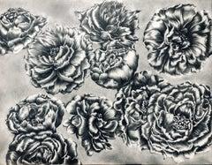 Japanese Contemporary Drawing by Tomo Sakurai - Peony