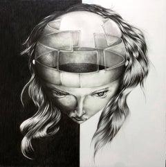 Japanese Contemporary Drawing by Tomo Sakurai - Conflict