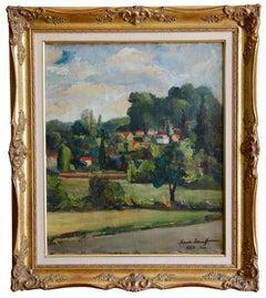 Alexandre Ivanoff, The Village, Oil on Canvas, 1928