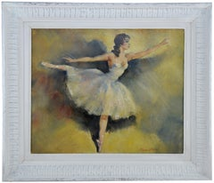 Cesar Vilol, Ballerina, Oil on Canvas, Circa 1925