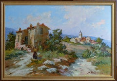 Landscape and Village in Provence
