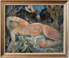 """Naked woman in the pine forest"""