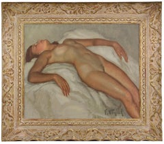 Naked Woman Lying, Oil on Canvas, 1930s