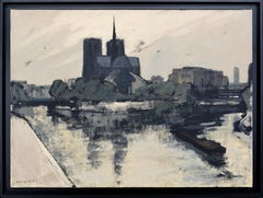Notre-Dame de Paris, Oil on Canvas by Henri André Martin