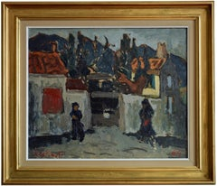Pierre Trofimoff, The House Of Mme Pomet, Oil on Canvas, 1964