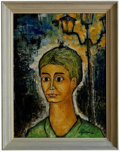 Jacques Danguit, Portrait, Oil on Canvas, 1962