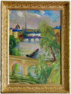 Paris, Eiffel Tower, Invalides, The Beautiful View, Oil on Canvas