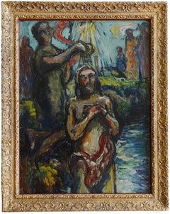 Louis Audibert Baptism of Christ by Saint John the Baptist