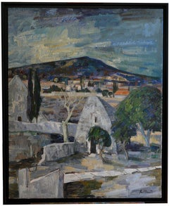 Paul Clement, Bories-en-Provence Village Near Gordes, Large Oil on Canvas, 1967