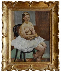 Jean-Louis Boussingault, The Nostalgic Ballerina, Oil on Cnavas, 1941