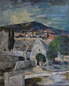 Paul Clement, Bories-en-Provence Village Near Gordes, Large Oil on Canvas, 1967