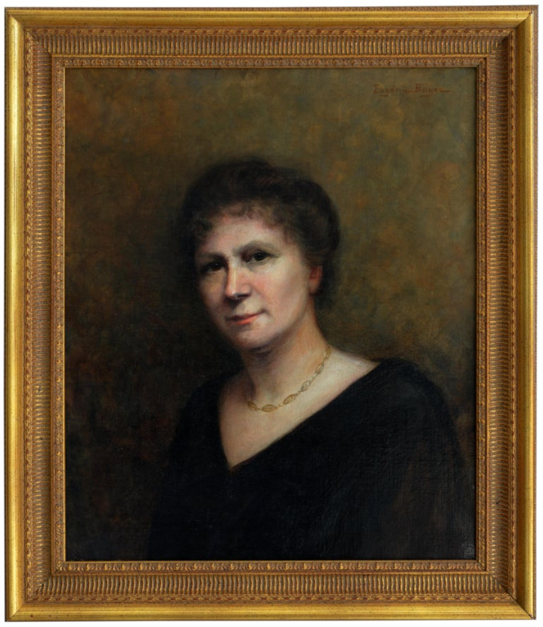Portrait of a Lady With a Necklace - Painting by Eugénie Boyer