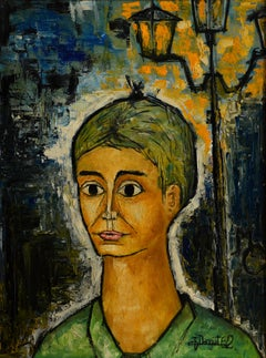 Jacques Danguit, Portrait, Oil on Canvas, 1962