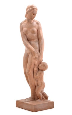 Bather with Child, Terracotta