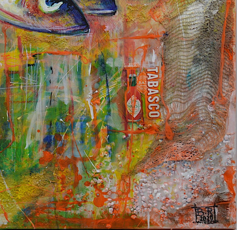 Bertrand Raymond, Mixed Media on Canvas, Sardines number #4, 2020, Fish For Sale 1
