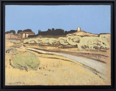 Henri-André Martin Road in Eygalieres, Alpilles, Provence, Oil on Canvas, 1999