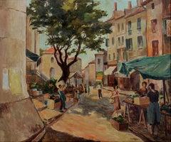 Market scene in Provence