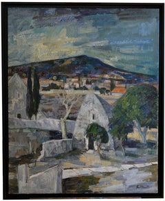 Bories-en-Provence Village Near Gordes, Large Oil on Canvas