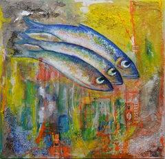 BertRay, Mixed Media on Canvas, 2020, Fish