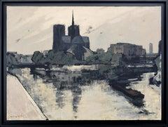 Notre-Dame de Paris, Oil on Canvas by Henri André Martin
