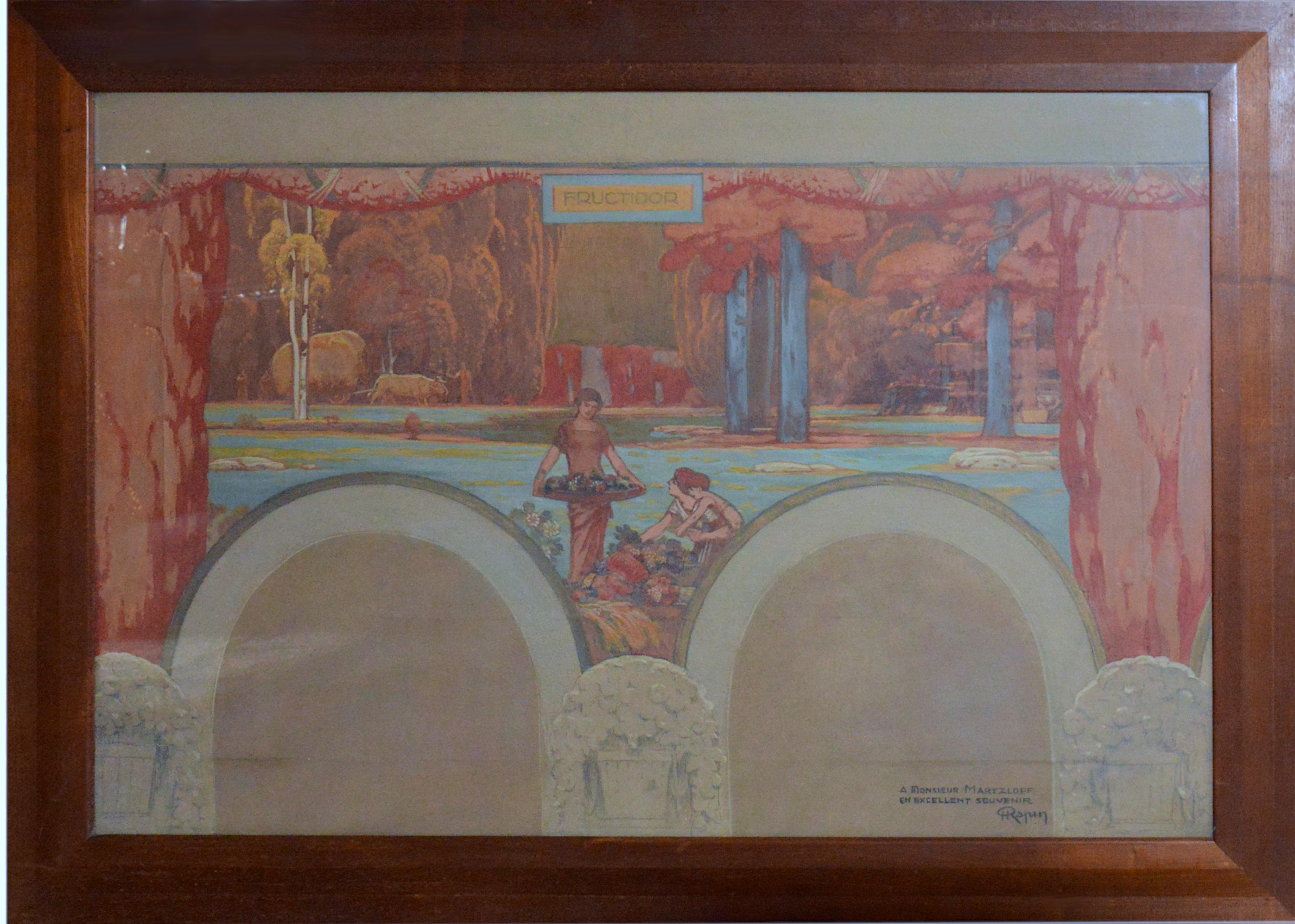 "Henri Rapin, Gouache on Paper ""Fructidor"", 1924-1928"