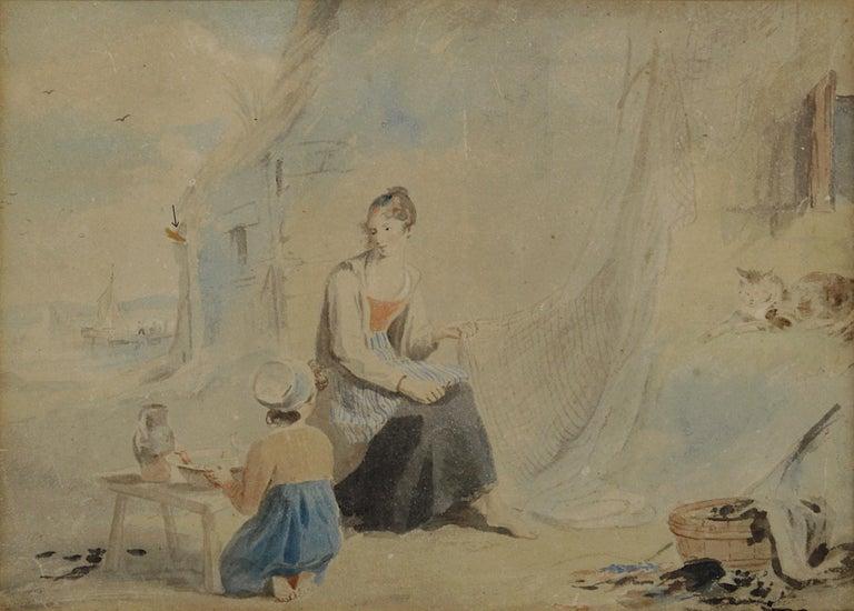 The Fisherman's Family - Romantic Art by James Ward