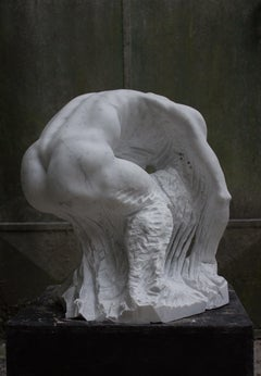 Impressionable Mind a contemporary Sculpture in Italian CARRARA MARBLE