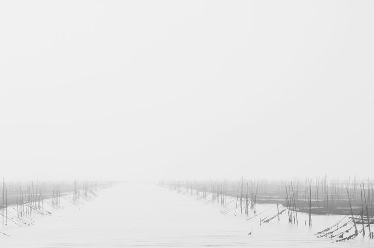 "Yeong-Jea Kim Black and White Photograph - The Morning Mist I (45 x 33"")"