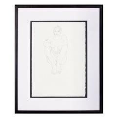 """Robert Graham Lithograph """"Seated Nude"""" 15 in. x 11 in. Signed and Dated"""