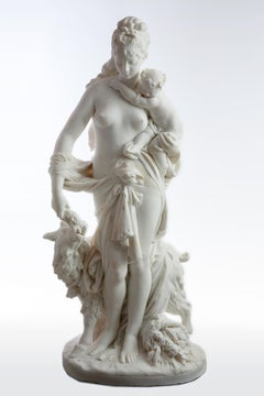 Le Retour des Champs (Return from the Harvest)  Carrara marble, signed and dated