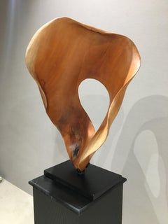 Lily - 21st Century, Contemporary, Abstract Sculpture, Mahogany Wood