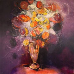 Flors d'Hivern - 21st Century, Contemporary, Still Life Painting, Oil on Canvas