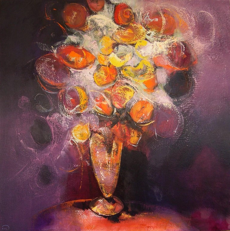 Tomàs Sunyol Still-Life Painting - Flors d'Hivern - 21st Century, Contemporary, Still Life Painting, Oil on Canvas