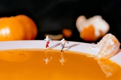 Orange Skating - 21st Century, Contemporary, Miniature Photography