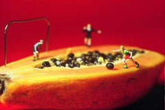 Football - 21st Century, Contemporary, Miniature Photography, Pigment Print
