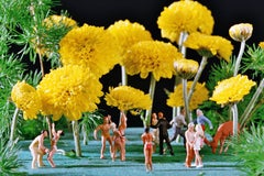 Yellow Flower Power - 21st Century, Contemporary, Miniature Photography