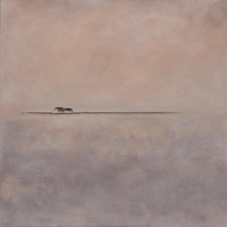 Joan Peris Figurative Painting - Ca l'Àvia - 21st Century, Contemporary, Acrylic, Figurative Landscape Painting